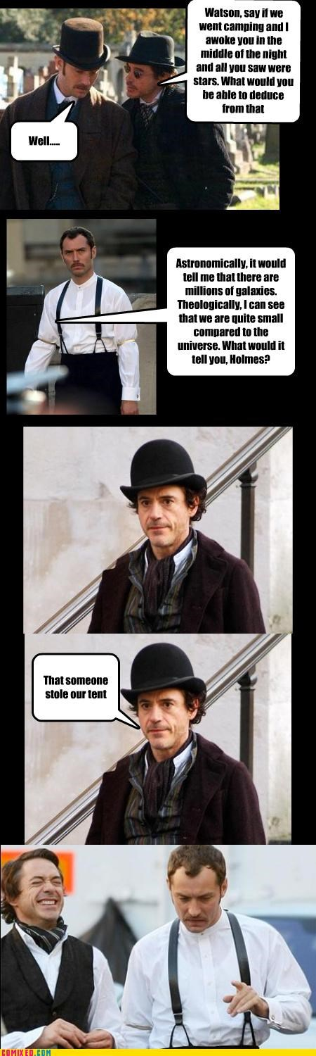 From the Movies IRL jokes outside sherlock holmes tents the stars Watson - 4268035840