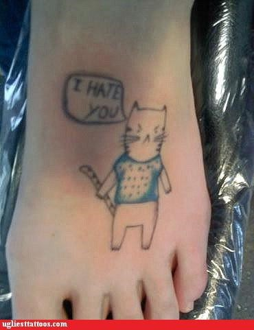 animals,Cats,foot tats,words