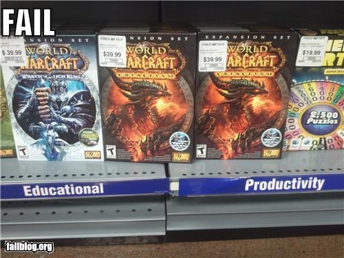 classic education failboat g rated productivity retail stores video games WoW - 4268210176