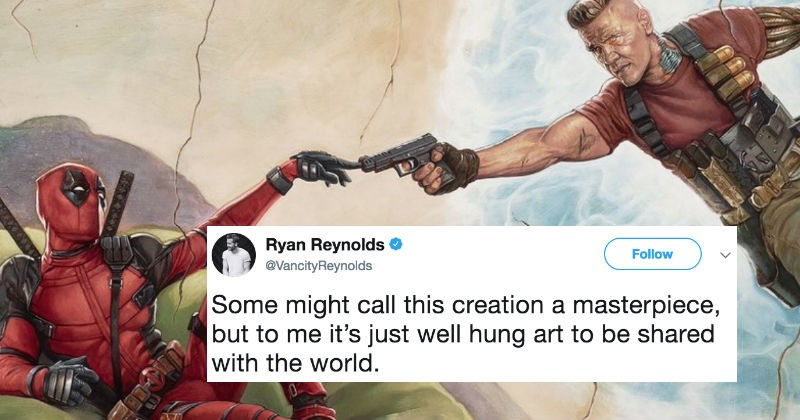 People on Twitter react to Ryan Reynolds sharing a picture inspired by Deadpool 2.