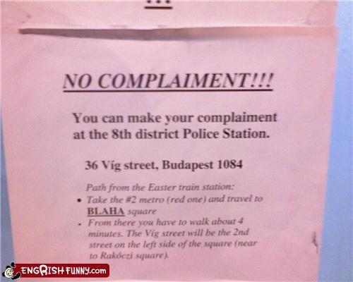 complaint compliment engrish police - 4269333504