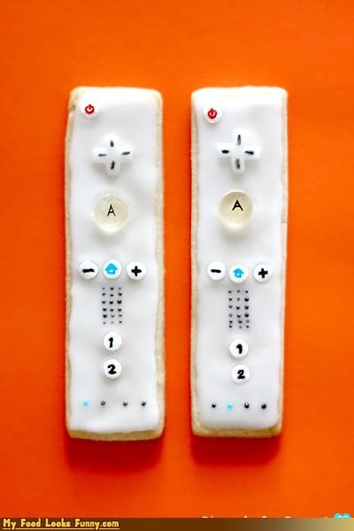 candy controllers cookies icing video games wii - 4269612032