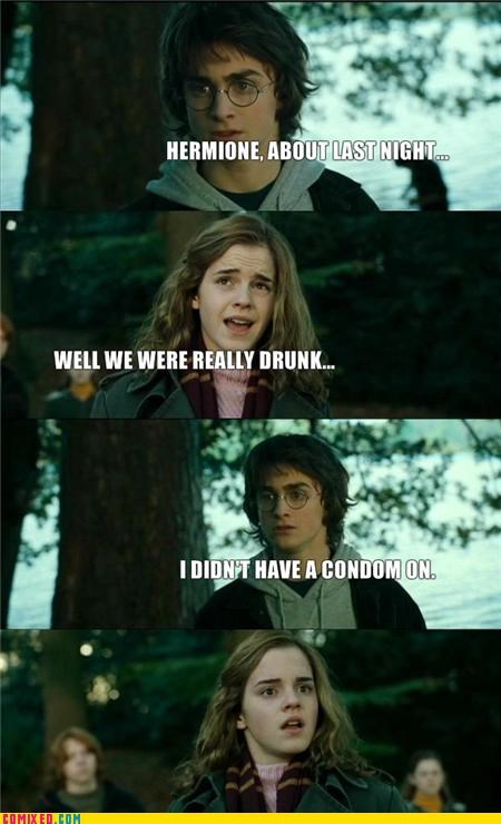 condoms drinking Harry Potter hermione sex wtf - 4269815808