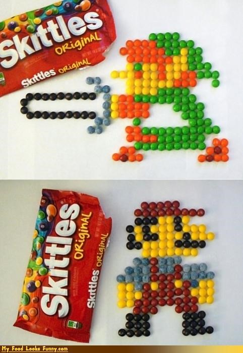 8 bit,candy,link,mario,NES,nintendo,skittles,Sweet Treats