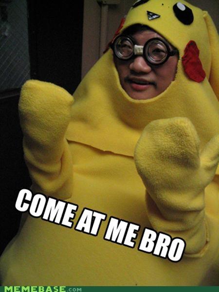 come at me bro glasses Memes nerd pika pika pikachu - 4270380544