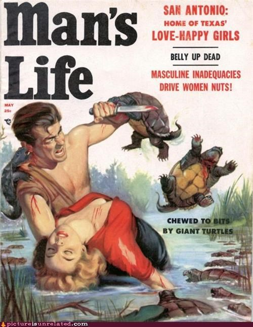 danger,fighting,knife,turtles,vintage,wtf