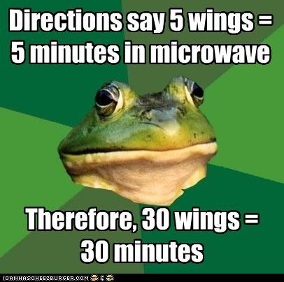 cooking foul bachelor frog microwave wings - 4270977024
