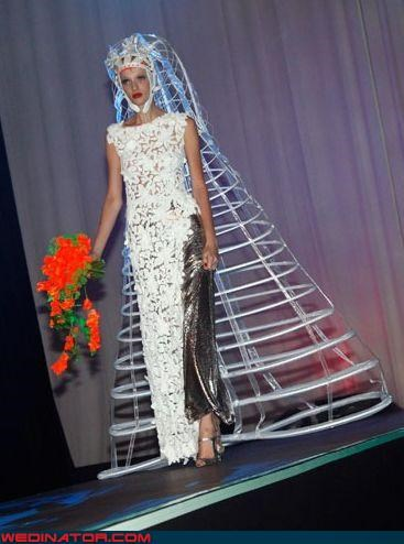 art bride crazy bridal fashion Crazy Brides crazy veil fashion is my passion funny bride picture funny veil picture funny wedding photos futuristic veil runway surprise technical difficulties the future Wedding Themes wtf wtf is this