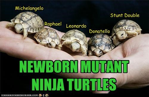 caption captioned mutant newborn ninja stunt double teenage mutant ninja turtles turtle turtles - 4271117312