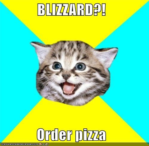 BLIZZARD?! Order pizza