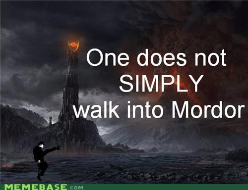 John Cleese Lord of the Rings Memes ministry of silly walks monty python mordor - 4271934976
