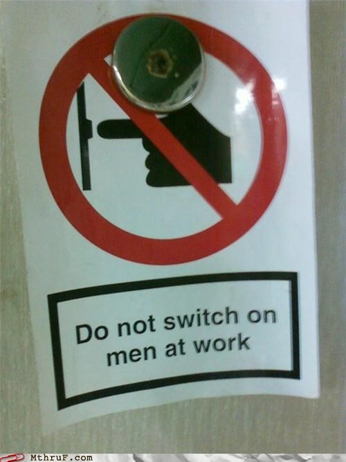 do not men at work Music note signs