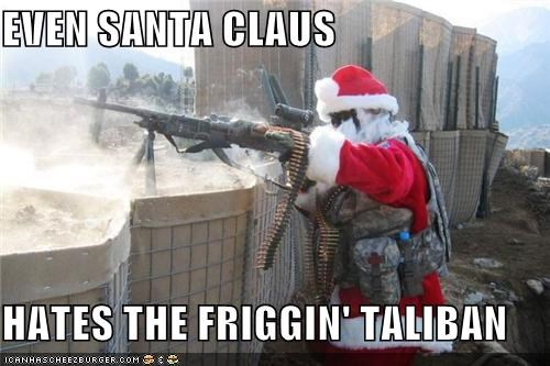 funny holiday lolz santa weapons