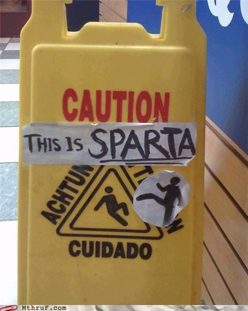 caution,prank,slippery,sparta