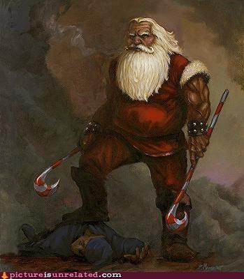 art bad ass holidays re-imagining santa santa claus wtf - 4272930304