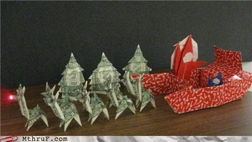 christmas,creativity,dollar,origami