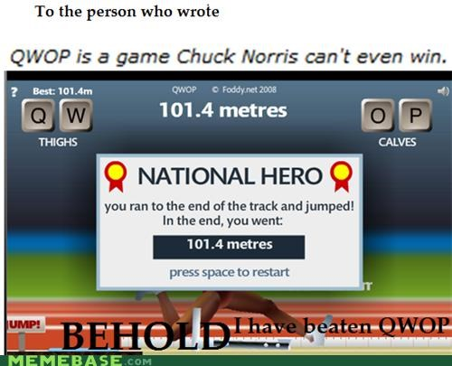 chuck norris hax it can be done Memes national hero QWOP - 4273285376