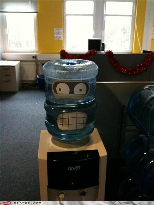 awesome,bender,FTW,futurama,personification,water cooler