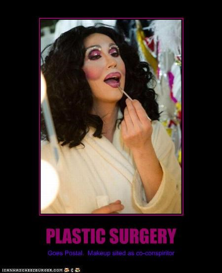 PLASTIC SURGERY Goes Postal. Makeup sited as co-conspiritor