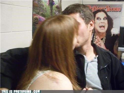 awesome making out Ozzy Osbourne photobomb poster - 4273807104