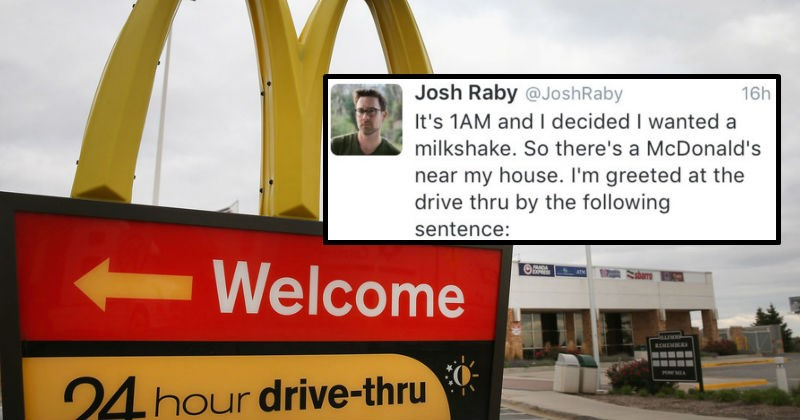 Guy shares story on Twitter about an absolutely insane McDonald's encounter.
