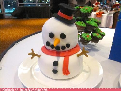 cake epicute fondant snowman - 4274834944