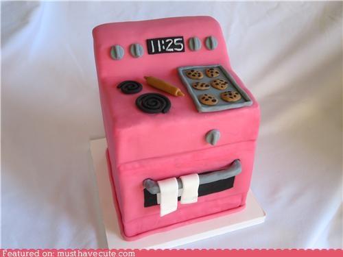 baking cake epicute fondant meta pink stove
