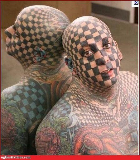wtf tattoos face tattoos - 4275263488
