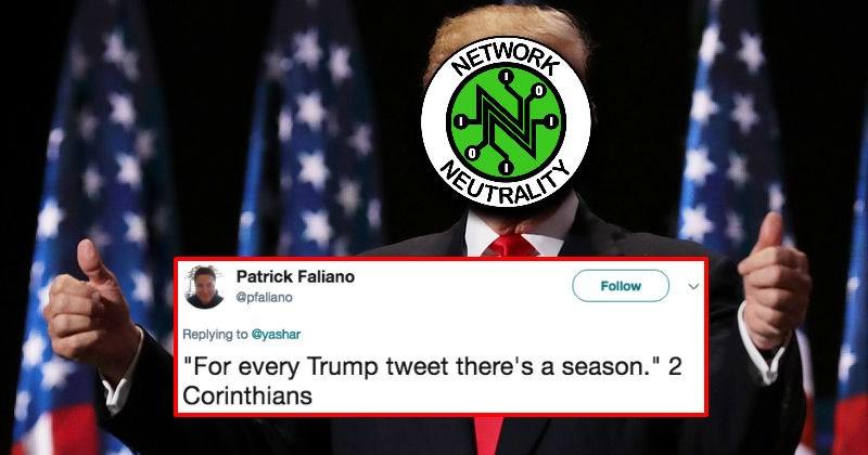 President Trump's tweet about net neutrality is going viral for all the Trump-related reasons you'd expect.