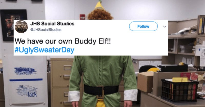 People share holiday sweaters on Twitter and these are actually amazing.