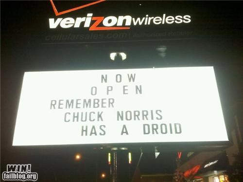 awesome at work chuck norris signs - 4276702976