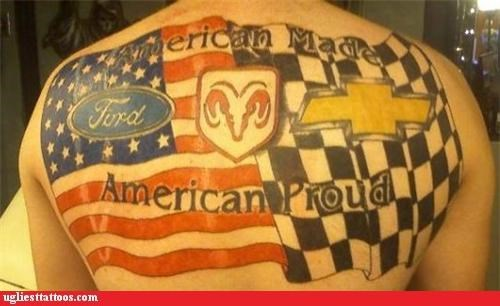 cars,tattoos,america,g rated,Ugliest Tattoos