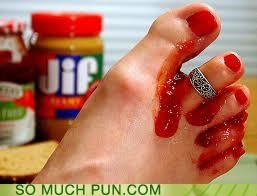 double meaning flavor jam jelly sandwich toe - 4277934080