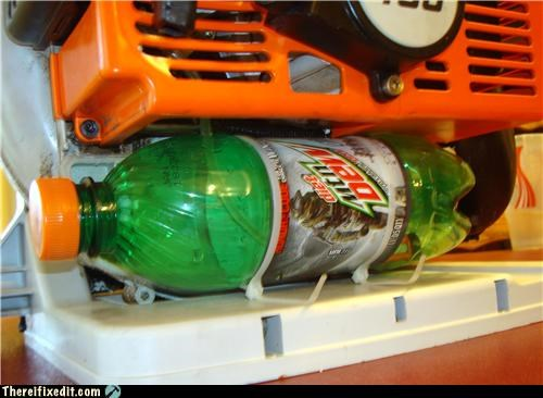 cautionary fail,gas tank,plastic bottles,soda