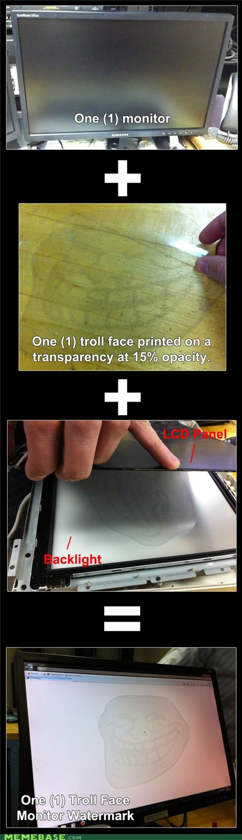 IRL monitor troll face - 4278214656