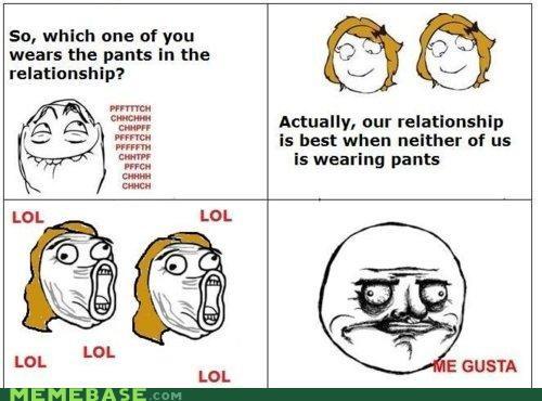 lesbians lol me gusta Memes pants trolling - 4278471936