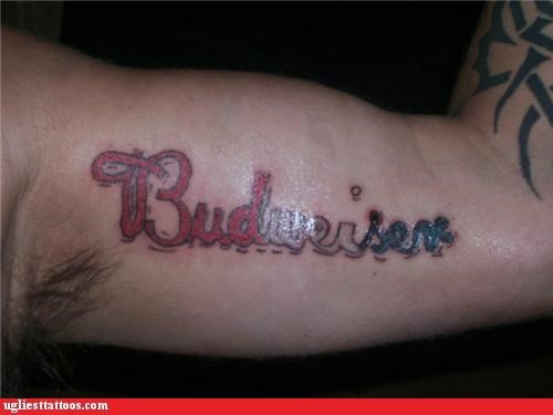 beer drinking budweiser tattoos - 4278893312