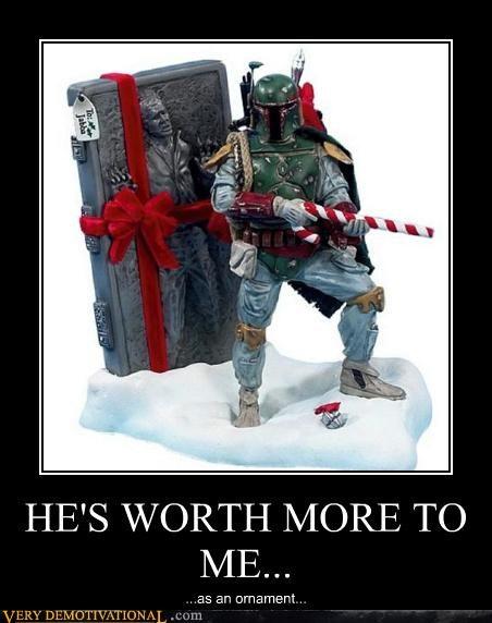 awesome boba fett christmas Han Solo holidays - 4279219456