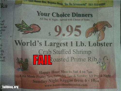 Ad failboat g rated lobster math is too hard newspaper size - 4279254528