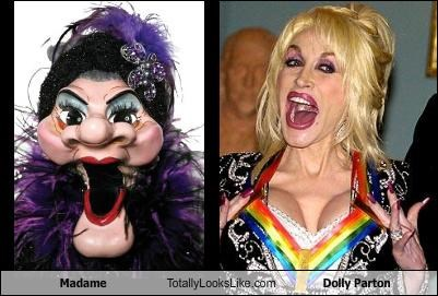 dolly parton madame plastic surgery puppet
