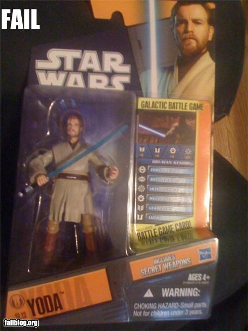 failboat g rated Jedi labeld star wars toys yoda - 4279567360