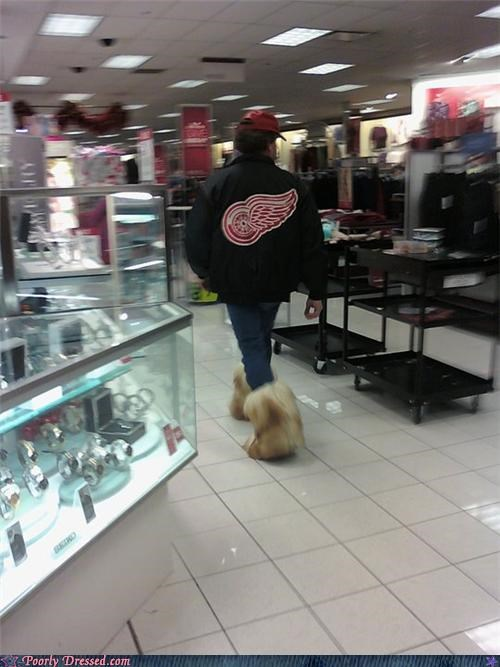 detroit,fur boots,hockey,red wings,sports