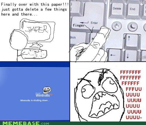 accidental shutdown homework Rage Comics windows wintrolls - 4279652352
