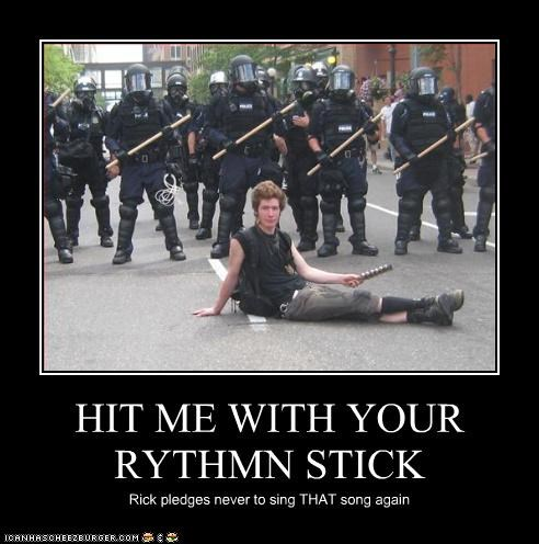 HIT ME WITH YOUR RYTHMN STICK Rick pledges never to sing THAT song again