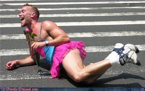 cross dressing Flower race