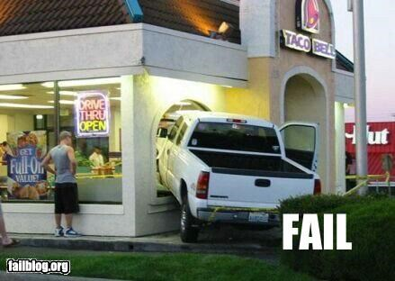 classic drive thru failboat g rated right through taco bell windows