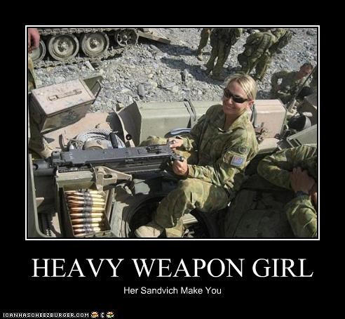 HEAVY WEAPON GIRL Her Sandvich Make You