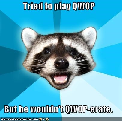 Lame Pun Coon,Memes,national hero,pun,QWOP