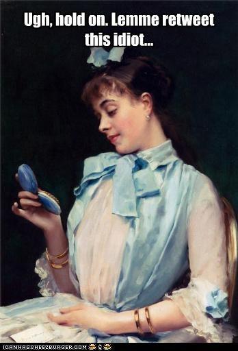 art color funny lady painting portrait - 4281544960