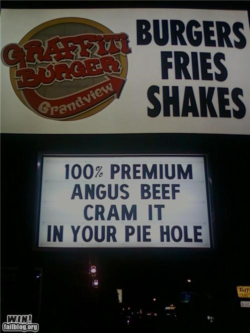 awesome at work food signs - 4281639168